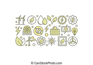 Vector eco energy illustration