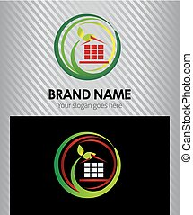 Vector eco house corporate logo