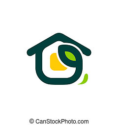 Vector eco house sign