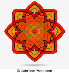Vector eco icon , flower design element. - geometric symbol ...