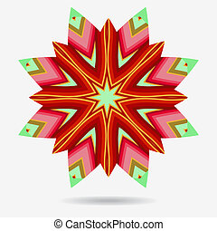 Vector eco icon , flower design element.