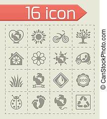 Vector Eco icon set