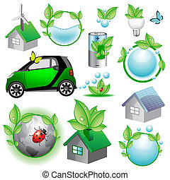 Vector eco icons and concepts