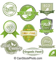 Vector ECO labels and stamps