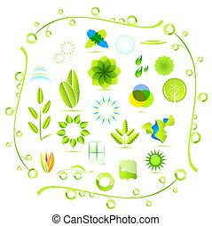 Vector eco nature icons