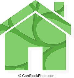 Vector eco real estate logo or icon