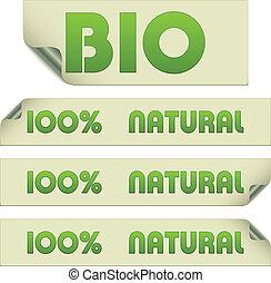 vector eco stickers