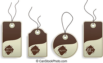 Vector eco tags