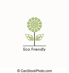 vector, ecológico, logotipo