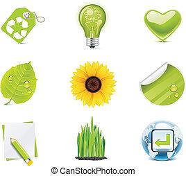 Vector ecology icon set. P.4
