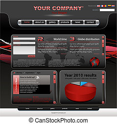 Vector editable website template
