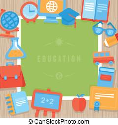 Vector education greeting card
