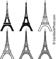 Eiffel Tower set - vector Eiffel Tower set