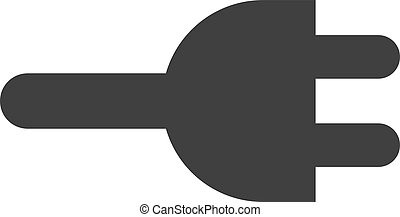 Vector Electric Plug Flat Icon Symbol