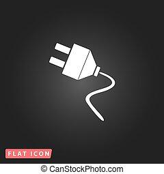 Vector electrical plug web flat icon.