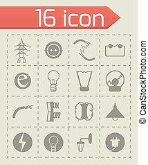 Vector Electricity icon set