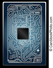 Vector electronic circuit board