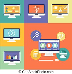 Vector Electronic Device Flat Icons