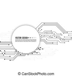 Vector electronic motherboard. - Abstract background with...