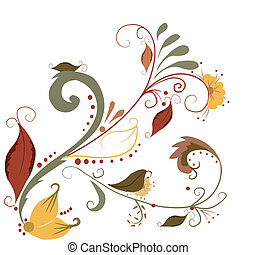 Vector elegant autumn leaves illustration