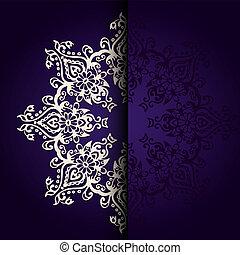 Vector Elegant background lace medallion