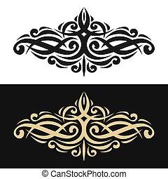 Vector elegant design element