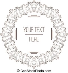 Vector elegant, filigree frame with space for text