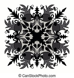 Vector elegant mandala with intricate detail oriental element of decor