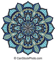 Vector, elegant mandala, with intricate detail. Stained...