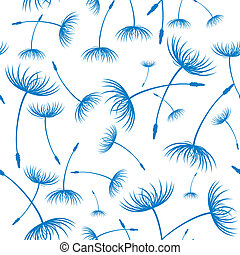Vector. Elegant seamless dandelion pattern