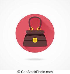 Vector Elegant Women Bag Icon