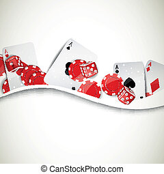 vector, elementos, plano de fondo, casino