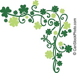 Vector elements background for St. Patrick's Day