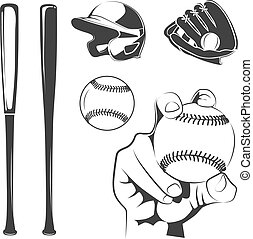 Vector elements for baseball club labels