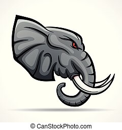 Vector elephant head mascot concept