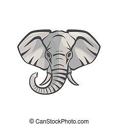 Vector Elephant portrait. - Elephant portrait. Vector icon...