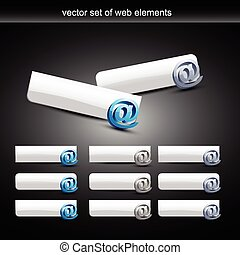 vector email button