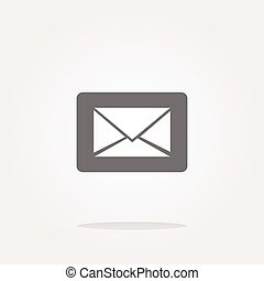 vector Email icon on glossy round button
