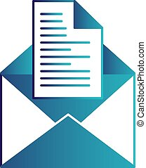 vector, email, pictogram