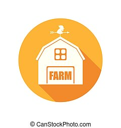 Vector Emblem with Farm House