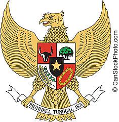 vector, emblema, indonesia