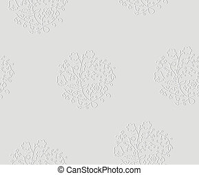 Vector embossed seamless pattern