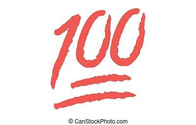 Vector - Emoji 100 Hundred points symbol - Vektor - Hundert...