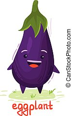 eggplant with a smiley face