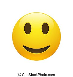 Vector Emoji yellow smiley face