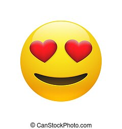 Vector Emoji yellow stupid smiley face