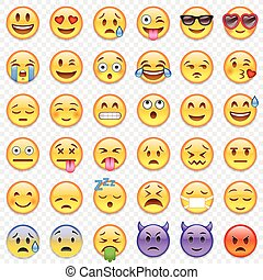 Vector Emoticon big set