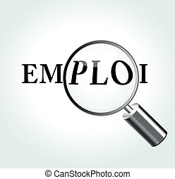 Vector employment concept - French translation for...