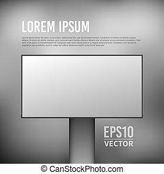 Vector empty billboard template