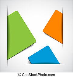 vector empty colorful paper cards with place for your text